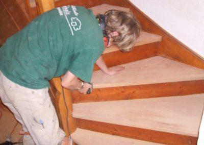Treppe während der Renovierung
